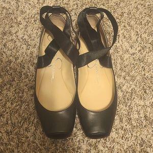 Jessica Simpson Black Flats hardly worn